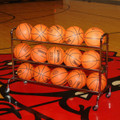 3-Tier Wide Body Basketball Cart (15 Ball Capacity)