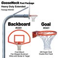 Gared Heavy-Duty Extended Gooseneck Package - Fan Backboard with Border