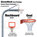 Gared Heavy-Duty Extended Gooseneck Package - Fan Backboard w/o Border