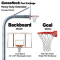 Gared Heavy-Duty Extended Gooseneck Package - Rectangular Backboard w/o Border
