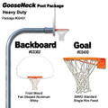 Gared Heavy-Duty Gooseneck Package - Fan Backboard w/o Border