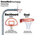 Gared Heavy-Duty Gooseneck Package - Fan Backboard w/ Border