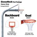 Gared Heavy-Duty Gooseneck Package - Fan Backboard w/ Target
