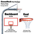 Gared Heavy-Duty Gooseneck Package - Rectangular Backboard w/ Border