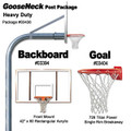 Gared Heavy-Duty Gooseneck Package - Rectangular Backboard w/o Border