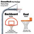 Gared Heavy-Duty Gooseneck Rear Mount Package - Fan Backboard w/ Border