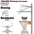 Gared Standard Duty Adjustable Straight Post Package - Fan Backboard w/o Border
