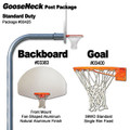Gared Standard Duty Gooseneck Package - Aluminum Fan Backboard
