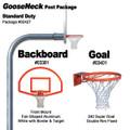 Gared Standard Duty Gooseneck Package - Fan Backboard w/ Border