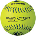 "Champro   12"" USSSA CLASSIC STADIUM, 40 COR, LEATHER COVER SLOW PITCH SOFTBALL;CSB82"