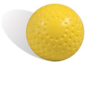 Import 12'' Yellow Dimpled Pitching Machine Softballs
