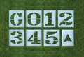 3 1/2' T x 30'' W Premium Letter Or Number Stencil - 1/16""