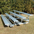 4-Row Low Rise Bleachers w/o rails (15', 21', 27')