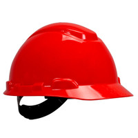 3M Hard Hat H-705P, Red 4-Point Pinlock Suspension, 20 EA/Case