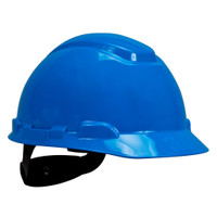 3M Hard Hat H-703R, Blue 4-Point Ratchet Suspension, 20 EA/Case