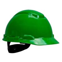 3M Hard Hat H-704R, Green 4-Point Ratchet Suspension, 20 EA/Case