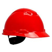 3M Hard Hat H-705R, Red 4-Point Ratchet Suspension, 20 EA/Case