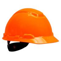 3M Hard Hat H-707R, Bright Orange 4-Point Ratchet Suspension, 20 EA/Case