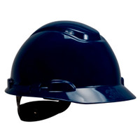 3M Hard Hat H-710R, Navy Blue 4-Point Ratchet Suspension, 20 EA/Case