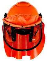 3M LumberJack Hard Hat System H-706RFK-UV, 4-Point Ratchet Suspension, Uvicator, Mesh Visor, Rainshield, Ear Muffs 1 EA/Case