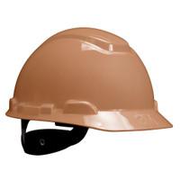3M Hard Hat H-711R, Tan, 4-Point Ratchet Suspension, 20 EA/Case