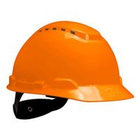 3M Hard Hat H-706V, Orange, 4-Point Ratchet Suspension, Vented 20 EA/Case