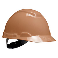 3M Hard Hat H-711P, Tan, 4-Point Pinlock Suspension, 20 EA/Case