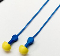 3M E-A-R EXPRESS Pod Plugs Corded Earplugs Blue Grips 311-1114, in Pillow Pack 400 EA/Case