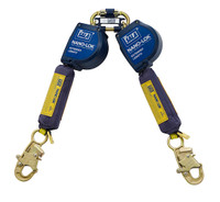 DBI-SALA 11  ft. Nano-Lok Extended Length Twin-Leg Quick Connect Self Retracting Lifeline - Web - 3101621