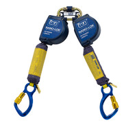 DBI-SALA 11  ft. Nano-Lok Extended Length Twin-Leg Quick Connect Self Retracting Lifeline - Web - 3101622