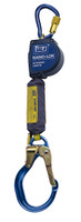 DBI-SALA 9  ft. Nano-Lok Extended Length Self Retracting Lifeline with Anchor Hook - Web - 3101595