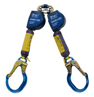 DBI-SALA 9  ft. Nano-Lok Extended Length Twin-Leg Quick Connect Self Retracting Lifeline - Web - 3101624