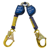 DBI-SALA 9  ft. Nano-Lok Extended Length Twin-Leg Quick Connect Self Retracting Lifeline - Web - 3101625