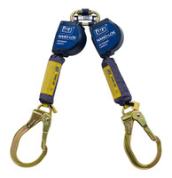 DBI-SALA 9  ft. Nano-Lok Extended Length Twin-Leg Quick Connect Self Retracting Lifeline - Web - 3101626