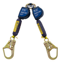 DBI-SALA 9  ft. Nano-Lok Extended Length Twin-Leg Quick Connect Self Retracting Lifeline - Web - 3101627