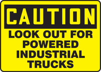 """Caution Look Out For Construction Traffic 36"""" x 48"""" - MVHR619XAW"""
