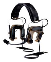 3M PELTOR ComTac IV Hybrid Communication Headset, Dual Comm, Flexi Boom Mic, MT16H044FB-19 CY Coyote Brown 1 EA/Case