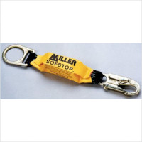 18-in SofStop Shock-Absorbing Pack 1 Locking Snap Hook and 1 D-Ring Yellow- 928LS-Z7/18INBK