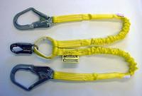 Miller 4 ft. Manyard Double Leg Lanyard w/ 1 Snap Hook and 2 Rebar Hooks - 231WRS-Z7/4FTYL