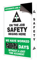 "Accidents Are Avoidable On The Job Safety Begins Here 28"" x 20"" - SCC206"