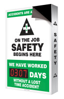 "Accidents Are Avoidable On The Job Safety Begins Here 28"" x 20"" - SCC303"