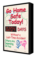 "Go Home Safe Today! #### Days Without A Lost-Time Accident Others Are Depending On You 28"" x 20"" - SCF204"