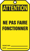 Attention Ne Pas Faire Fonctionner  - TCF028FTP