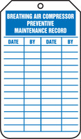 Breathing Air Compressor Preventive Maintenance Record  - TRS301FTP