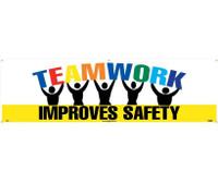 Banner Teamwork Improves Safety 3Ft X 10Ft