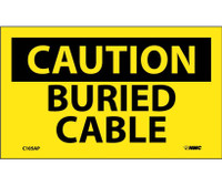 Caution Buried Cable 3X5 Ps Vinyl 5/Pk