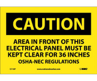 Caution Area In Front Of This Electrical Panel . . . 7X10 Ps Vinyl