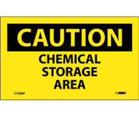 Caution Chemical Storage Area 3X5 Ps Vinyl 5/Pk