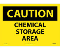 Caution Chemical Storage Area 10X14 Ps Vinyl