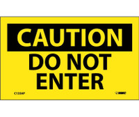 Caution Do Not Enter 3X5 Ps Vinyl 5/Pk
